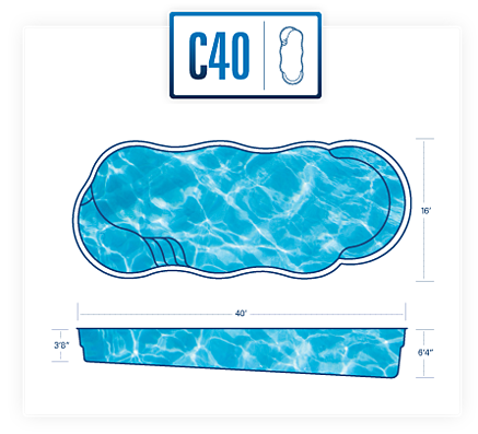 River Pools pool design specs for C40