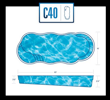 C40 freeform pool design by River Pools