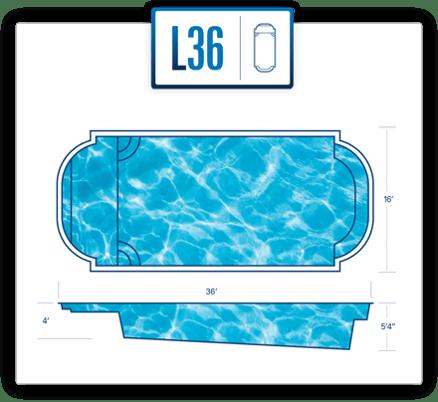 River Pools pool design specs for L36