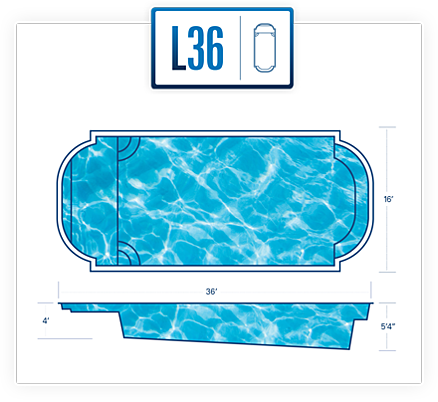River Pools pool design specs for L36