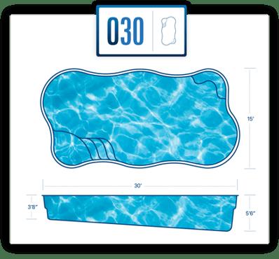 River Pools O30 pool specs/blueprint