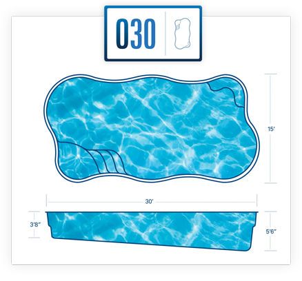 River Pools pool design specs for O30