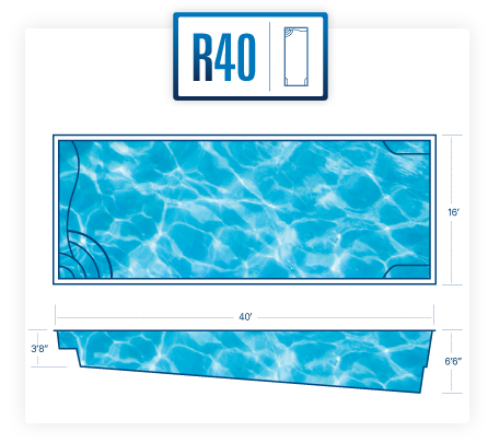 R40 fiberglass pool Basic Diagram