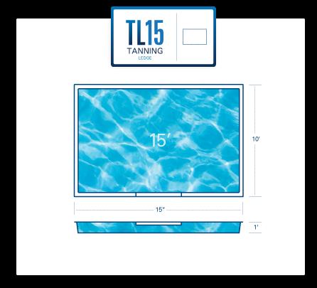 TL15 tanning ledge diagram