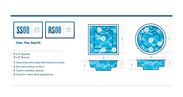 fiberglass pool spas diagram