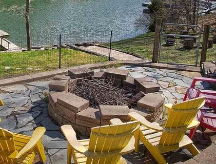 custom built fire pit