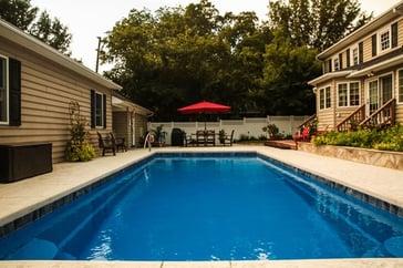 R36 large fiberglass inground swimming pool