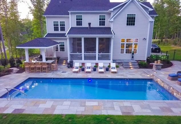 T40 large fiberglass pool