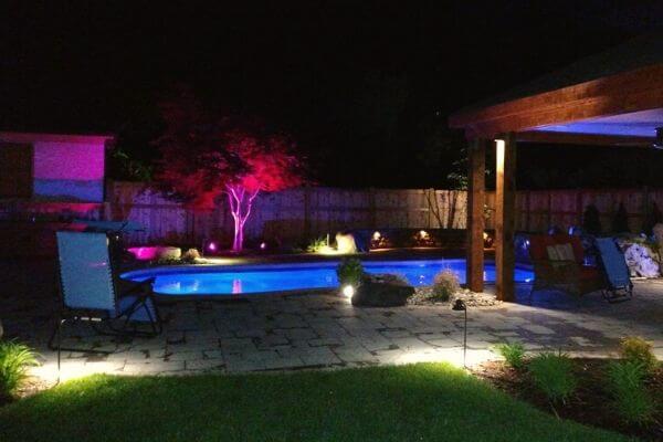 ambient pool landscape lighting