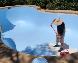 applying pool paint