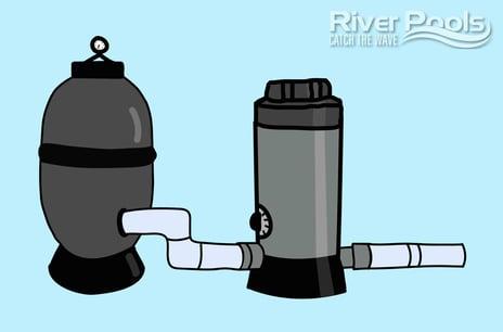 automatic pool chlorinator illustration