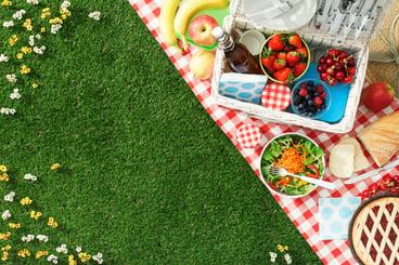 staycation backyard picnic