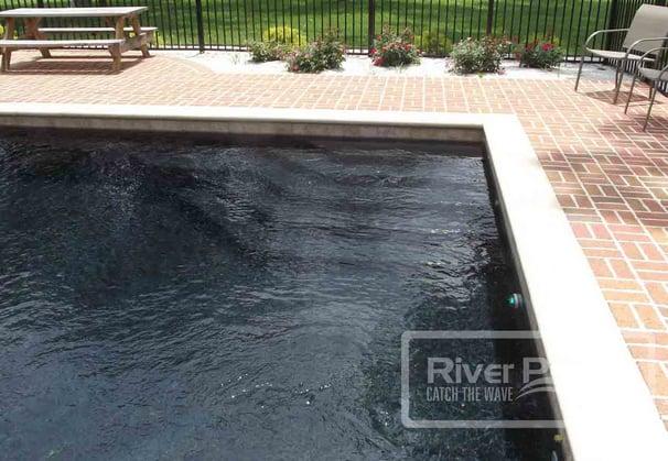black bottom fiberglass pool steps