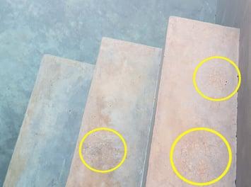 Craze cracks in pool plaster