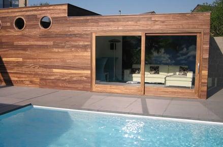custom pool house guest house