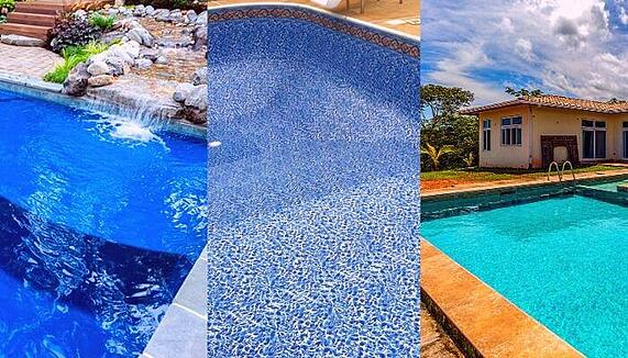 fiberglass, vinyl liner, and concrete pool
