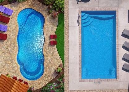 freeform vs rectangle pool fiberglass