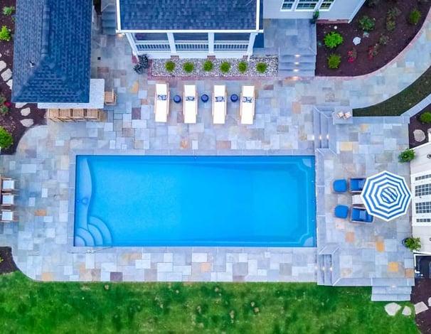 granite gray fiberglass pool