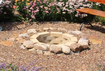inground fire pit idea
