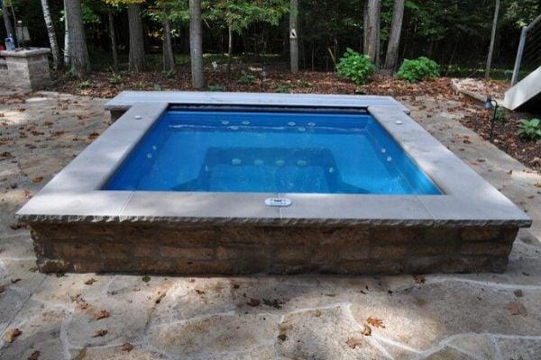 inground fiberglass spa