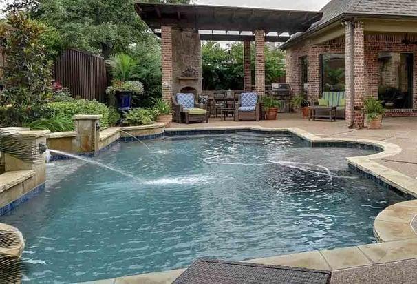 light gray inground pool