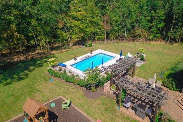 nice backyard with pool