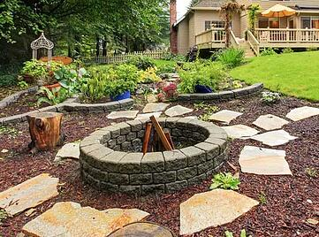 affordable fire pit for pool area