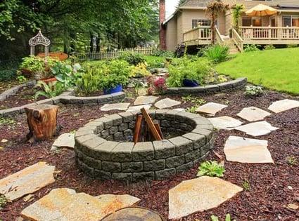 paver fire pit idea
