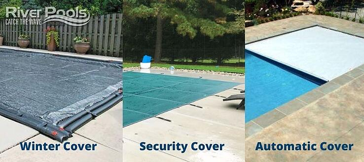 Pool cover types: winter, security, automatic
