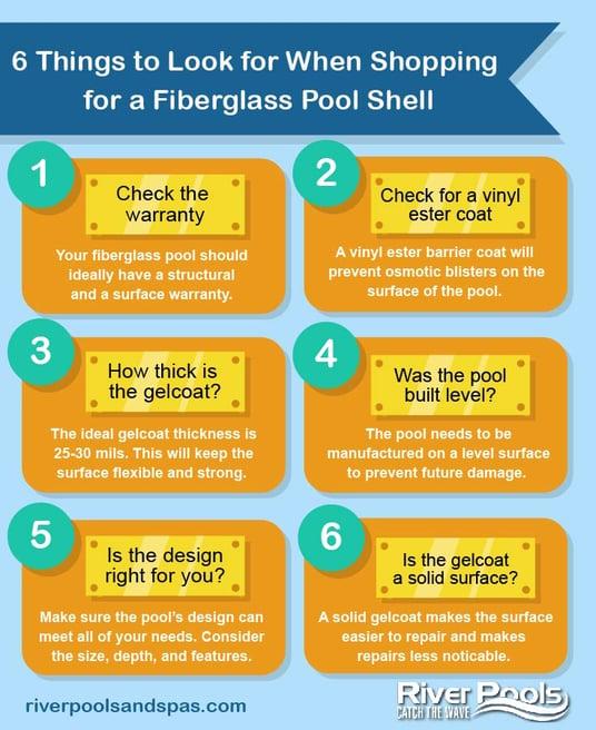 Fiberglass pool shell shopping tips