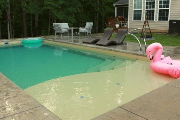 small inground saltwater pool