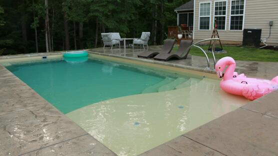 small pool in small backyard
