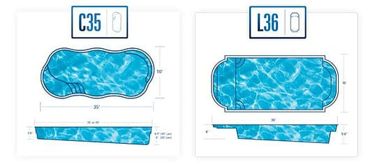 16x32 fiberglass pools - inground pool monthly payment by pool size and interest rate