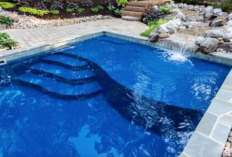 D24 River Pools fiberglass pool - Virginia fiberglass pool installers