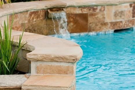Pool wall around semi inground pool