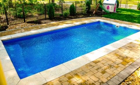 Rectangular fiberglass pool design - R20 small inground pool
