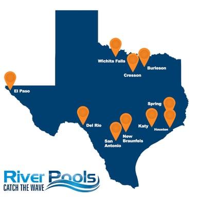 Texas fiberglass pools map