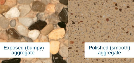 exposed aggregate pool finish vs polished aggregate pool finish
