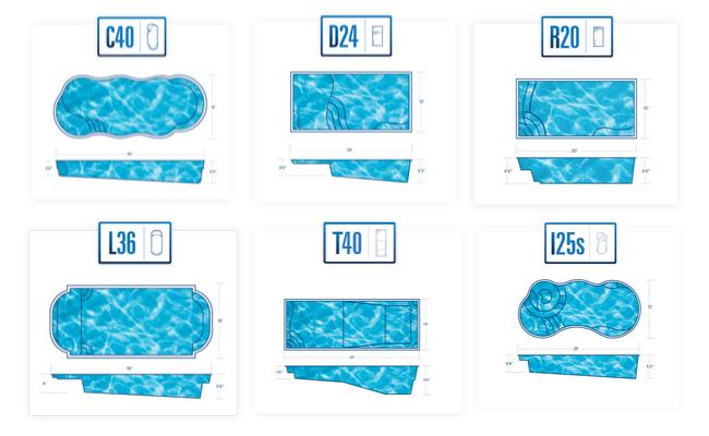 Fiberglass pool shapes