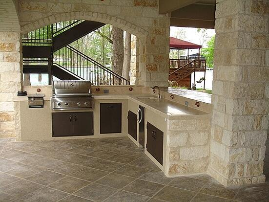 outdoor living space ideas - outdoor kitchen