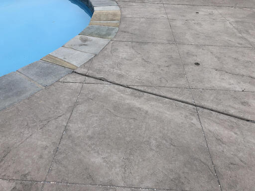 Pool concrete control joint example