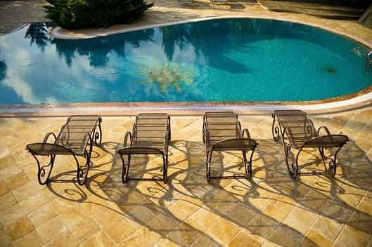 pool patio furniture ideas metal loungers