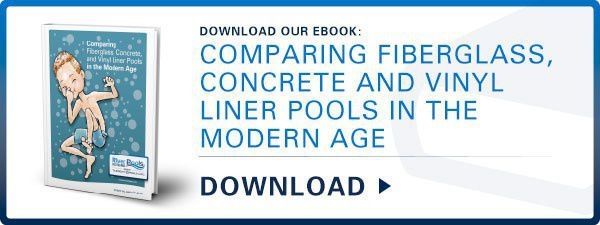 "Download our ebook: ""Comparing Fiberglass, Concrete, and Vinyl Liner Pools in the Modern Age."""