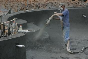 gunite/shotcrete/concrete pool shell process