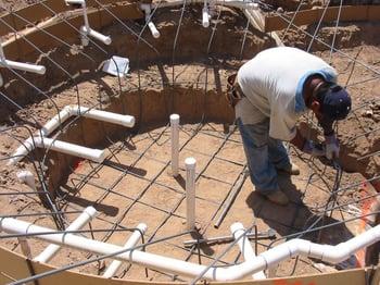 Swimming Pool Construction Comparing Concrete Vinyl Liner And Fiberglass Installations