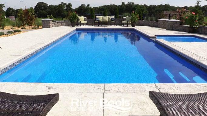 River Pools fiberglass inground swimming pool
