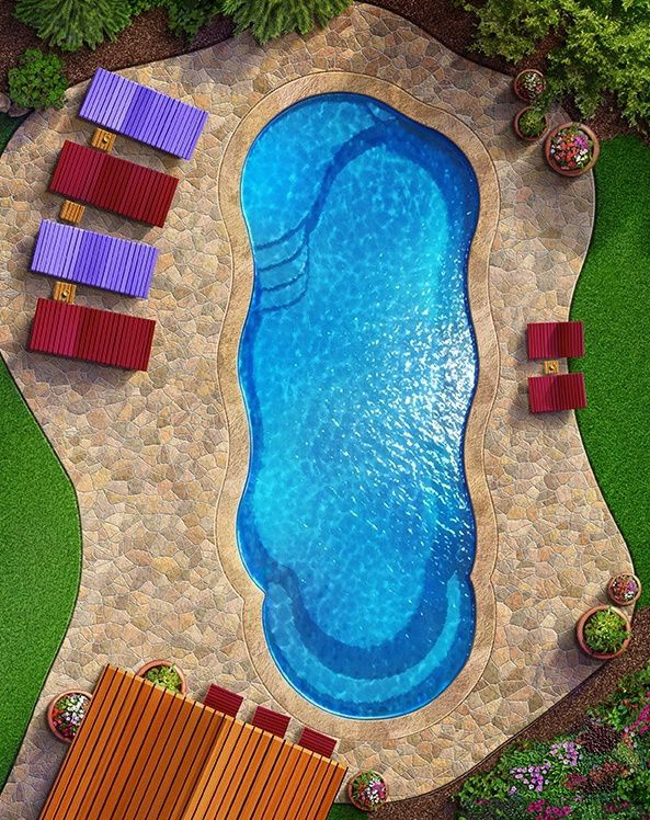 C40 Pool from above