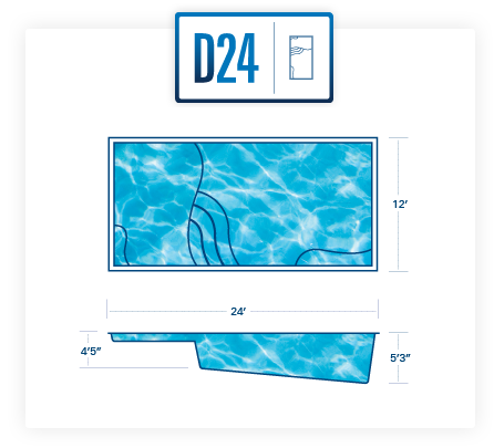 River Pools D24 fiberglass pool