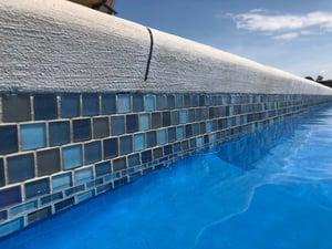 glass tile on a G36 fiberglass pool