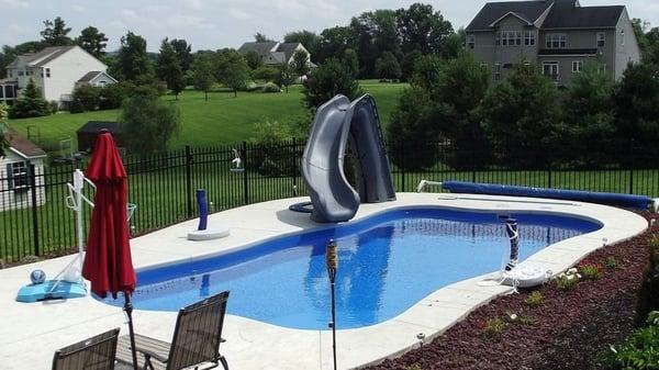 Inground Pool Slides Costs Types Safety